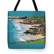 Waves Coming Ashore At Sybil Point Ireland  # 1 Tote Bag
