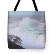 Waves Crashing Tote Bag