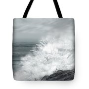 Waves Crashing The Rocks In Ireland Tote Bag