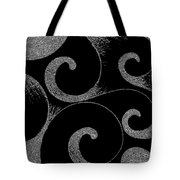 Waves Inverted In Black And White Tote Bag
