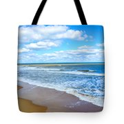 Waves Lapping On Beach 3 Tote Bag