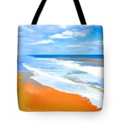 Waves Lapping On Beach 8 Tote Bag