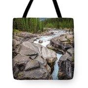 Waves Of ... Granite At Mistaya Canyon, Canada Tote Bag