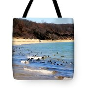 Waves Of Ducks Tote Bag