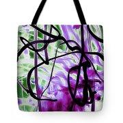 Waves Of Purple Tote Bag