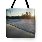 Waves Of Snow On An Ice Beach Tote Bag