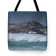 Waves On A Cloudy Day Tote Bag