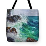 Waves On Maui Tote Bag