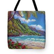 Waves On Na Pali Shore Tote Bag