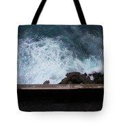 Waves On The Mediterranean Tote Bag