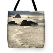 Waves Roll Ashore On The Oregon Coast Tote Bag