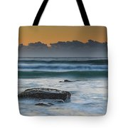 Waves Rolling In At Sunrise Tote Bag