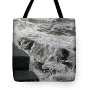 Waves Splashing Stones 2 Tote Bag