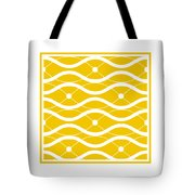 Waves With Border In Mustard Tote Bag