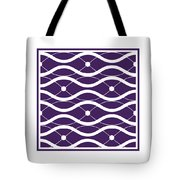 Waves With Border In Purple Tote Bag