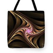 Waves With Pink Tote Bag