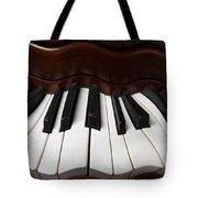 Wavey Piano Keys Tote Bag