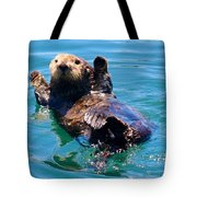 Waving Otter Tote Bag