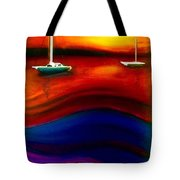 Wavy Bay  Tote Bag