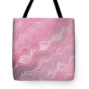 Wavy Pink Brush Strokes Abstract Art For Interior Decor Viii Tote Bag