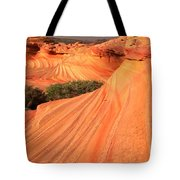 Wavy Sunset Curves Tote Bag