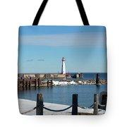 Wawatam Lighthouse Tote Bag