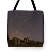 Waxing Moon Above The City Of Rocks Tote Bag