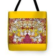Waxleaf Privet Blooms In Autumn Tones Abstract Tote Bag