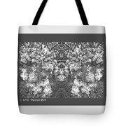 Waxleaf Privet Blooms In Black And White Abstract Poster Tote Bag