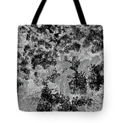 Waxleaf Privet Blooms On A Sunny Day In Black And White - Color Invert Tote Bag