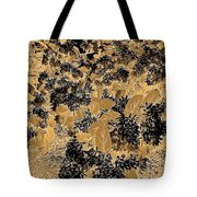 Waxleaf Privet Blooms On A Sunny Day In Black And White - Color Invert With Golden Tones Tote Bag