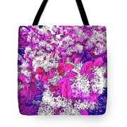 Waxleaf Privet Blooms On A Sunny Day With Magenta Hue Tote Bag