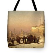 Way Between Old And New Cairo Tote Bag