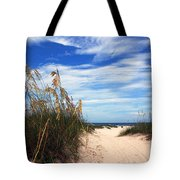 Way Out To The Beach Tote Bag