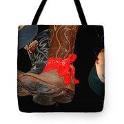 Waylon Jennings Boots Tote Bag