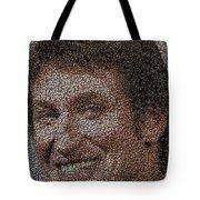 Wayne Gretzky Hockey Puck Mosaic Tote Bag