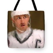 Wayne Gretzky Kings Portrait Tote Bag