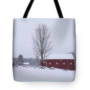 Wayside Inn Grist Mill Covered In Snow Storm 2 Tote Bag
