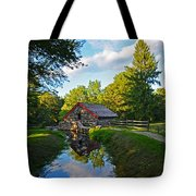 Wayside Inn Grist Mill Reflection Tote Bag
