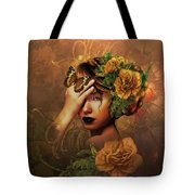 Blooms A Fragile Yellow Rose Tote Bag
