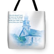 We Are The Church Tote Bag