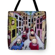 We Race Unaware Toward The End Of Days Tote Bag