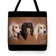 'we Three Salukis' Tote Bag
