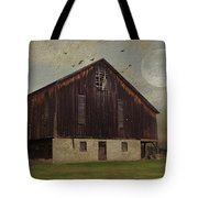 Weathered Barn And Birds Tote Bag