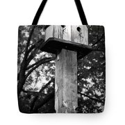 Weathered Bird House Tote Bag