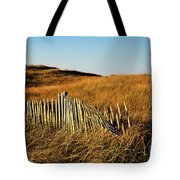 Weathered Dune Fence. Tote Bag