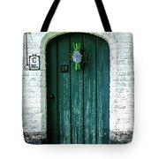 Weathered Green Door Tote Bag