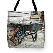 Weathered Green Wheelbarrow Tote Bag