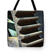 Weathered Metal Cogs Tote Bag
