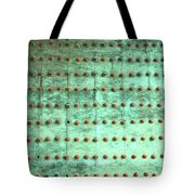 Weathered Metal Rivets With Green Patina Tote Bag